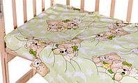 Постель Qvatro Сменный Комплект Gold Салатовая (Мишка-Мальчик И Мишка-Девочка Спят)
