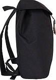 Городской черный рюкзак Bagland с кожзамом 14 л. 38*29*12 см, фото 3
