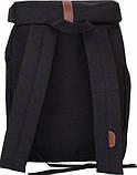Городской черный рюкзак Bagland с кожзамом 14 л. 38*29*12 см, фото 4