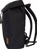 Городской черный рюкзак Bagland с кожзамом 14 л. 38*29*12 см, фото 5