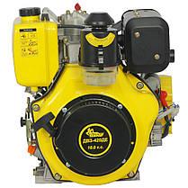Двигатель дизельный Кентавр ДВУ-420ДЕ (10 л.с., шпонка, вал 25мм, электростарт), фото 3