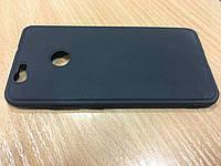 Черный силиконовый чехол для Huawei Nova(усиленный)