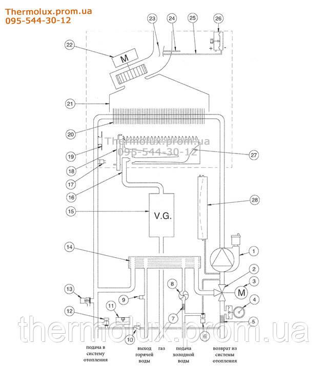 Функциональная схемаBaxi ECO-4S24F турбо