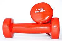Гантель виниловая SPRINTER 1 кг.