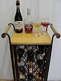 Сервировочный стол-стеллаж для вина (арт. PVKС-102-2), фото 7