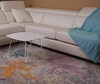 Стол журнальный современный дизайнерский Lyon S (Лион С), белый МДФ 18 мм, каркас металл, выкрашенный в цвет с