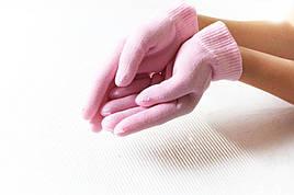Гелевые увлажняющие перчатки Gel Spa Gloves. Розовые