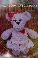 Вязаная игрушка ручной работы Мишка Фани, фото 1
