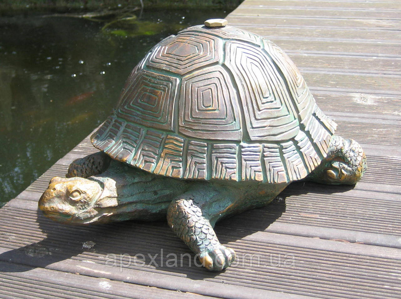 "Фигурка-фонтан  ""Черепаха"", декор для пруда, фонтанная фигурка"