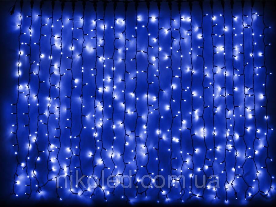 Гирлянда DELUX CURTAIN внешняя 2х7м Синий