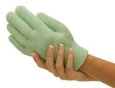 Гелевые увлажняющие перчатки Gel Spa Gloves. Зеленые