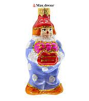 """Формовая стеклянная игрушка """"Клоун"""" (высота 8 см.)"""