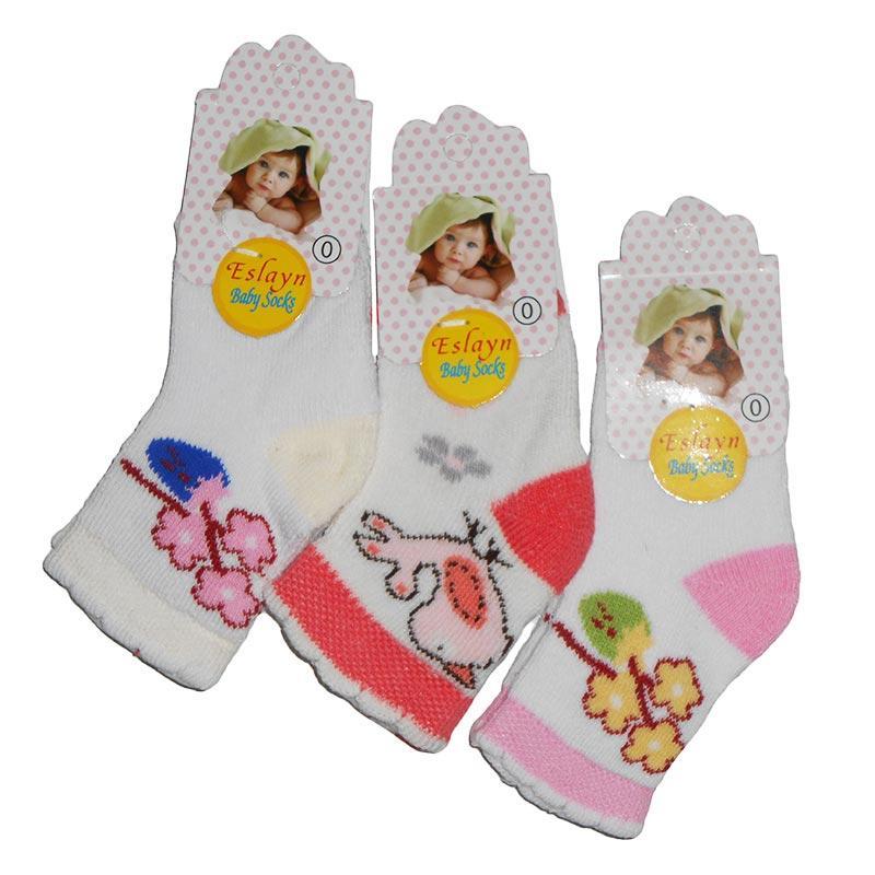 """Носочки махровые для девочек №0 """"Eslayn"""""""