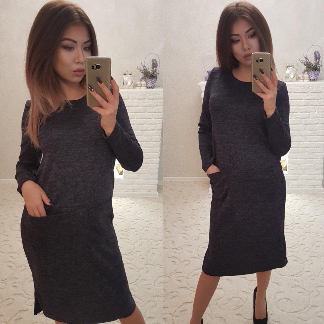 Теплое женское платье 42-56р.