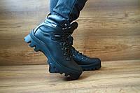Мужские зимние ботинки Shark Черные 10404