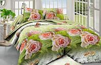 Постельный комплект розы 3д семейный недорого