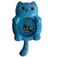 """Детские настенные часы """"Кот"""" с маятником kt1"""