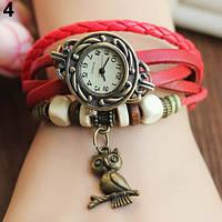 Классные женские часы браслет Bluelans красного цвета