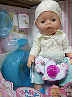 Кукла-пупс, Baby Born аналог, 9 функций. 8006-L