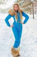 Голубой зимний женский комбинезон в стиле Odri