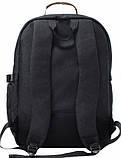 Рюкзак для ноутбука Bagland Гриффит 23 л. черный 45*32*16 см, фото 3