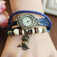 Классные женские часы браслет Bluelans синего цвета