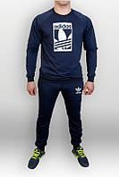 Спортивный костюм адидас, синий цвет, молодежный, к699