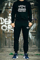 Спортивный костюм черный, адидас ориджинал, Adidas origina, к711