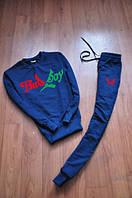 Спортивный костюм bad boy синий цвет, красно - зеленый принт, к741