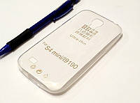 Чехол силиконовый прозрачный для Samsung S4 mini, 0.5mm