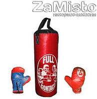 Набор боксерский (мешок+перчатки) детский Full Contact красный