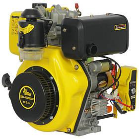 Двигатель дизельный Кентавр ДВЗ-420ДШЛЕ (10 л.с., шлиц, вал 25мм, электростарт)