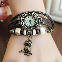 Классные женские часы браслет Bluelans коричневого цвета
