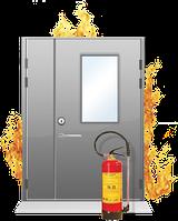 Двери металлические противоударные входные в квартиры с огнестойкостью EI-30