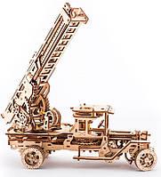 Пожарная машина, механический 3D пазл, Ukrainian Gears