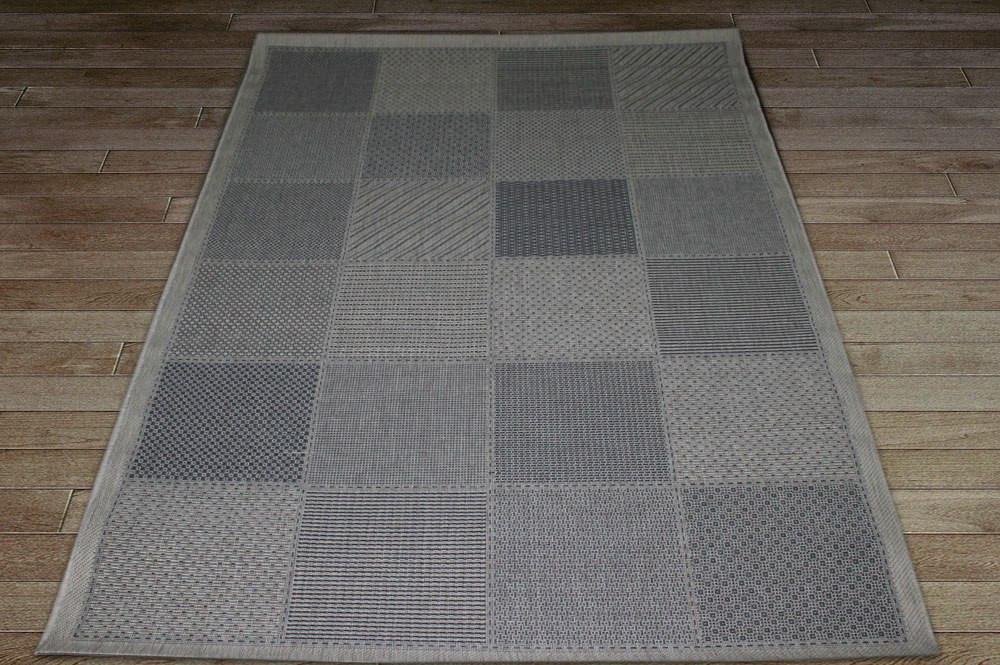 Коврик - рогожка Сизаль квадраты, цвет серый сандал. Коврик рогожка купить