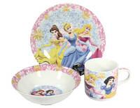 """Набор детской посуды 3 предмета """"Принцесса"""""""