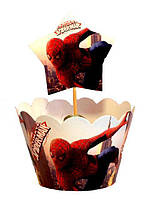 Набор для капкейков 10шт Человек паук