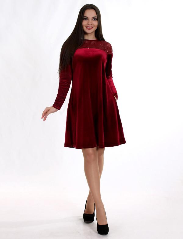 Платье  женское бордовое  вечернее ENIGMA MKENP 0908