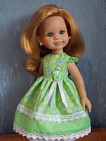 Одежда для куклы Paola Reina 32см  (салатовое  платье + туфли)