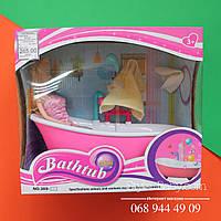 Набор кукла и игрушечная Мебель Ванная комната, муз,свет,льется вода из душа, на бат-ке, в кор-ке, 27-24,5-14с