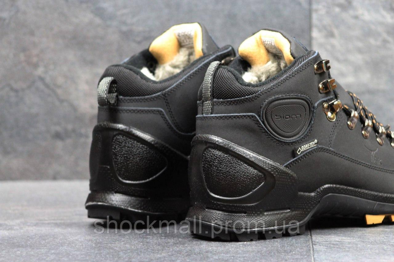 Зимние ботинки Ecco Yak мужские черные Вьетнам реплика d57fbc0de46eb