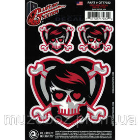 Planet Waves PWGT77032 Guitar Tattoo стикер-наклейка Emo Girl Skull