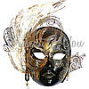 Венецианская маска «Гламур», черная 30х29 см., фото 2