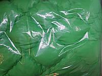 Зимнее теплое двойное одеяло. 175*210.Холлофайбер.Зелень.