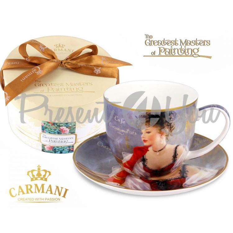 Чашка с блюдцем Carmani, 300 мл (045-0228)