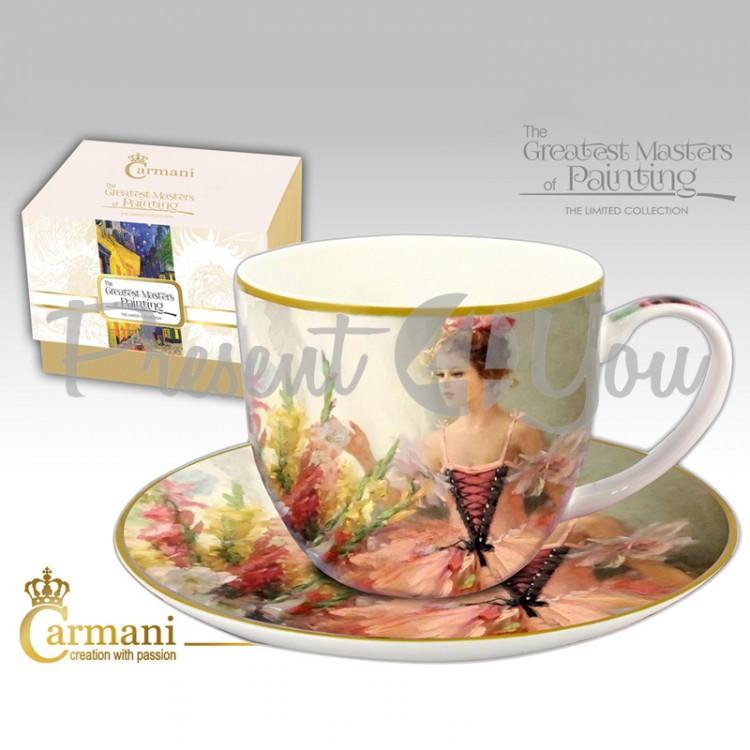 Чашка с блюдцем Carmani, 300 мл (045-0236)
