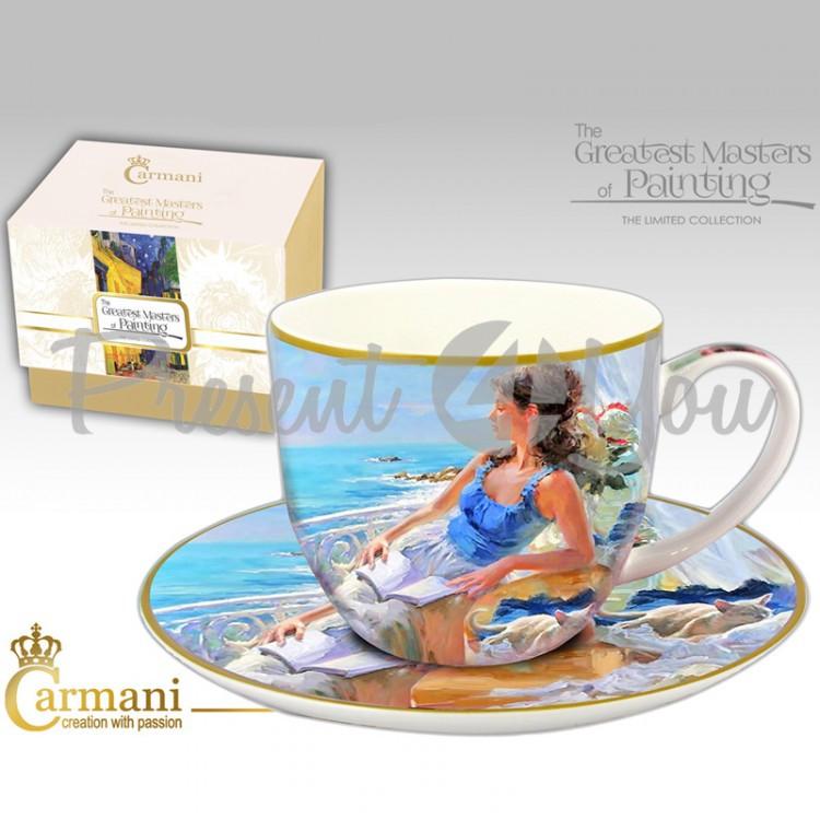 Чашка с блюдцем Carmani, 300 мл (045-0233)
