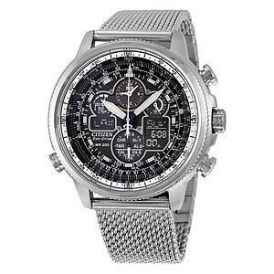 Мужские часы CITIZEN Navihawk UTC Eco-Drive Chronograph JY8030-83E