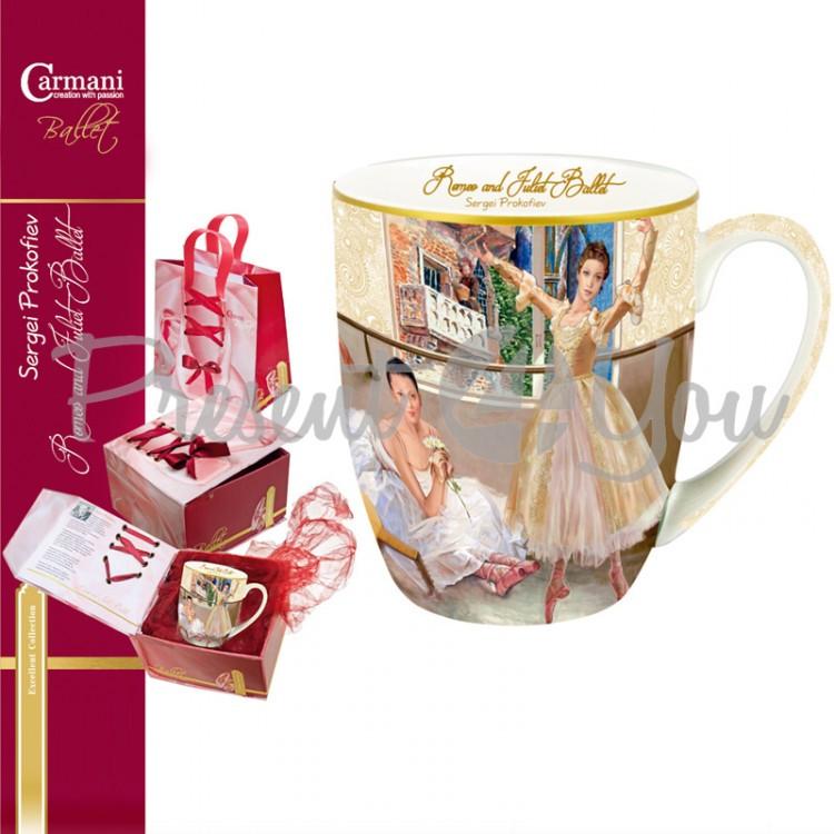 Подарочный набор «Балет». Кружка «Ромео и Джульетта» (450 мл), коробка, пакет (045-0601)